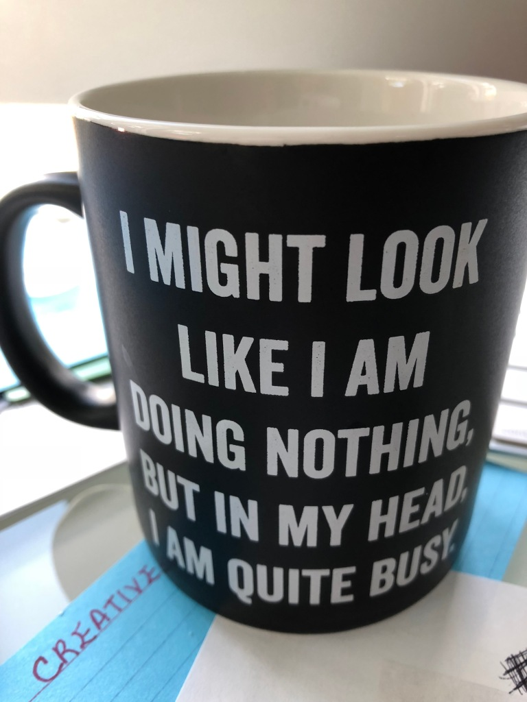 Photo of mug with words